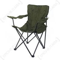 Original British Army Folding Chairs - Green Outdoors Fishing Beach Garden Seat