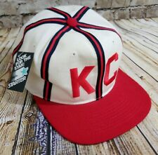 Vintage Kansas City Monarchs Starter Wool Snapback Baseball Hat The Natural