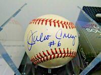 Julio Cruz Signed Baseball MLB RAWLINGS Seattle Mariners White Sox Autograph #1