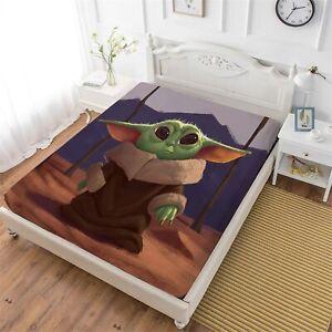 Yoda Baby Deep Pocket Fitted Sheet Set 3PCS Pillowcases Mattress Cover US Size