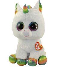 "TY BEANIE BOOS LARGE Plush 16"" 41cm Soft Toy PIXY UNICORN White Boo"