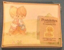 PRECIOUS MOMENTS POSTALETTES Vtg 10 Fold Up Letters Stationery Hallmark Sealed