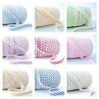 Stripe Picot Lace Edge BIAS BINDING - Cotton Trim 10+ Colours 1m/25m Wholesale