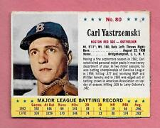 1963 JELL-O CEREAL HAND CUT BASEBALL CARD #80 CARL YASTRZEMSKI UN-CREASED JELLO