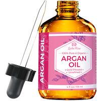 Argan Oil by Leven Rose - Pure, Cold Pressed, Unrefined - 4 oz