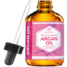 Argan Oil by Leven Rose - Pure, Cold Pressed, Unrefined - 4 oz