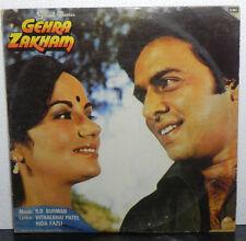 Gehra Zakham Music R D Burman Bollywood Rare LP Vinyl Record India Gate Fold VG+