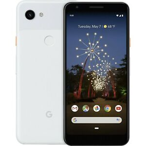 Google Pixel 3a XL 64GB White Factory Unlocked AT&T T-Mobile Smartphone USED