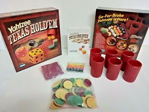 Yahtzee Texas Holdem The Classic Dice Adult Game Parker Brothers 2004