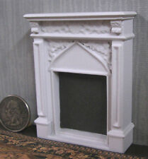 """HALF  SCALE ~ FIREPLACE ~ Dollhouse ~ White ~ 1/24 ~ 1/2"""" scale ~ Room Box"""