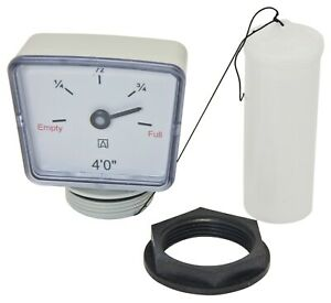 4ft / 1220mm Tank Float Gauge with Back Nut - Suits Oil or Water Tanks