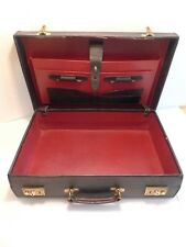 SWAINE ADENEY BRIGG - LEATHER HARDSIDED  BRIEFCASE- CLASSIC- MADE IN ENGLAND