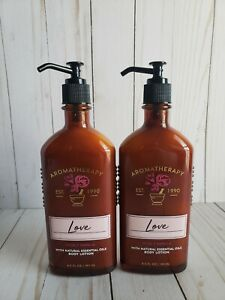 bath and body works aromatherapy rose & vanilla body lotion set of 2