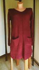 C.M. Schönes Kleid/Strickkleid von Laura Scott, weinrot, Gr. 38 (°95)
