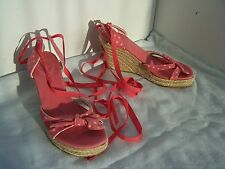 Size 5 pink faded spotty platform wedge sandals fro Fat Face