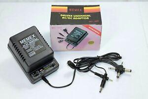 Universal AC/DC Adapter MU-1000 mA 1A 1.5  3  4.5  6  7.5  9  12V Memex Charger