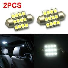 2x White 3528 LED Bulbs 27mm / 28mm 12 SMD Festoon Dome Map Light DE3021 DE3022