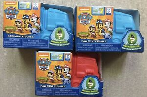 NEW Paw Patrol Mini Figures Mystery Dino Blind Box Blue Red Series 7 LOT of 3