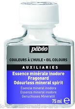 Disolvente sin olor aceite mineral Spirit 75 ml colores auxiliar para el medio, Barniz