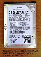 """Fujitsu, Hitachi, Toshiba .. 80GB SATA 5400/7200 rpm 8MB Int 2.5"""" Hard Drive"""