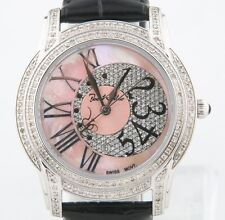 Joe Rodeo Edelstahl & Diamant Quarz Uhr Mop Ziffernblatt Original Ehering jbly-3