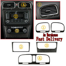 Carbon Fiber Dashboard Air Outlet + CD Panel Decoration For Golf MK6 GTI 2008-12