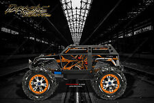 "TRAXXAS SUMMIT GRAPHICS WRAP DECALS ""THE DEMONS WITHIN"" FOR OEM BODY PARTS ORANG"