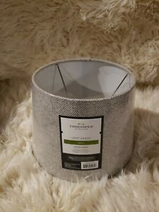 Linen Drum Lamp Shade Gray - Threshold top 8 height 7 bottom  wide 10 with offer