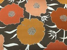 Duralee OUTDOOR Floral Print Upholstery Fabric- Thicket / Melon 15.0 yd 21068-3