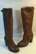 Ariat Knee High Riding Horse Western Boot Heels Brown Leather Round Toe 7 B