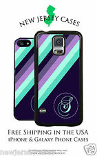 Purple Stripes Monogrammed Personalized iPhone & Galaxy Phone Case Cover