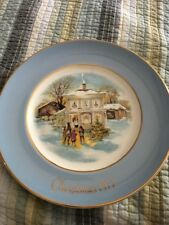 Avon 1977 Christmas Plate Series Carolers in the Snow Fifth Edition Wedgwood