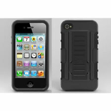 Unbranded/Generic Silicone/Gel/Rubber Mobile Phone Cases, Covers & Skins with Kickstand for Apple iPhone 4s