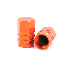 4pcs Orange Wheel Tyre Tire Valve Stems Air Dust Cover Screw Cap Mercedes Benz
