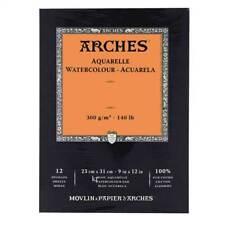 Aquarelle Arches Aquarelle Pad papier brouillon artistes Livre 12 feuilles - 23x31cm