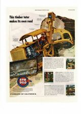 VINTAGE 1945 RPM DELO TRACTOR FRONT LOADER TIMBER TOTER AD PRINT