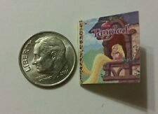 Miniature dollhouse Disney Princess book Barbie 1/12 Scale Tangled  Rapunzel