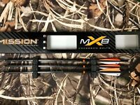 """3 Mission MXB 20"""" crossbow bolts with aluminum nock made by Victory for Mathews"""
