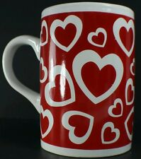 White Hearts on Red Studio 33 Coffee Mug Cup Gift Hearts Sweetest Red White