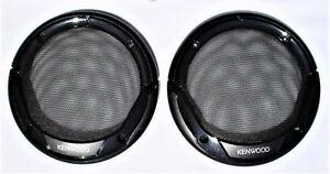 """Pair Kenwood 6.5"""" 6 1/2"""" 16cm Flush Mount Speaker Grills Black New"""