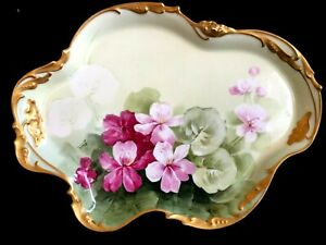 Antique porcelain tray LIMOGES