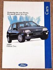 1994 FORD CARS Sales Brochure - Fiesta Escort Cabriolet Mondeo Granada Scorpio