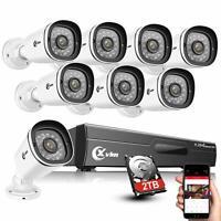 XVIM 8CH 1080P Outdoor Security Camera System Motion Alert DVR w/ 1/2TB Storage