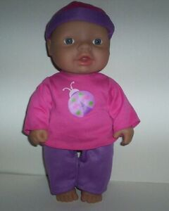 """Cititoy 10"""" Vinyl Jointed Chubby Baby Doll Blue Eyes with Clothes TC8"""
