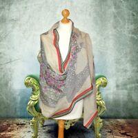 BNWT CASHMERE Luxury FINE Ladies silk & CASHMERE pashmina shawl scarf