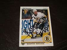 BOB SWEENEY AUTOGRAPHED 1990 UPPER DECK CARD-BRUINS