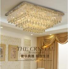 Rectangular led crystal chandeliers bedroom living room dining bar table lamp