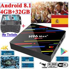 H96 Max Android 8.1 Smart TV Box 4GB 32GB H.265 USB 3.0 4K HD 2.4g WiFi teclado
