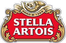 "Stella Artois Beer  Alcohol  Bumper sticker, wall , vinyl, bumper 5""x 3.2"""