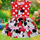 Toddler Baby Girls Kid Minnie Mickey Mouse Cute Bowknot Polka Dot Dress Costume